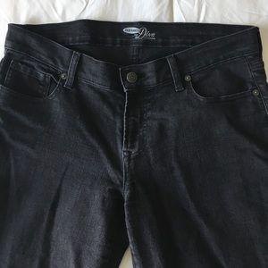 Old Navy black denim diva skinny jeans - size 10